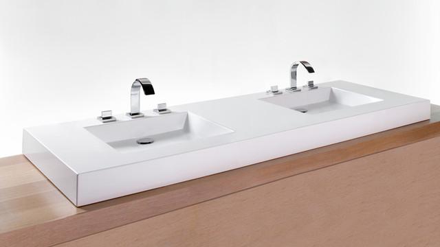 Pillar Divine Gold Sink And Pedestal Set Free Form Top
