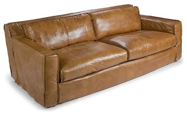 Regina Andrew Halston Leather Sofa Traditional