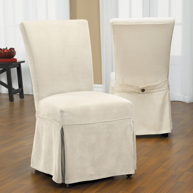 Duck Long Relaxed Fit Dining Chair Slipcover with Buttons  : contemporary dining chairs from www.houzz.co.uk size 640 x 640 jpeg 74kB