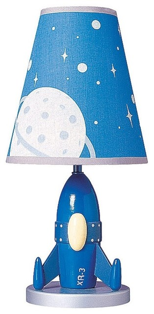 Kids Rocket Blast-Off Child's Table Lamp - Contemporary ...