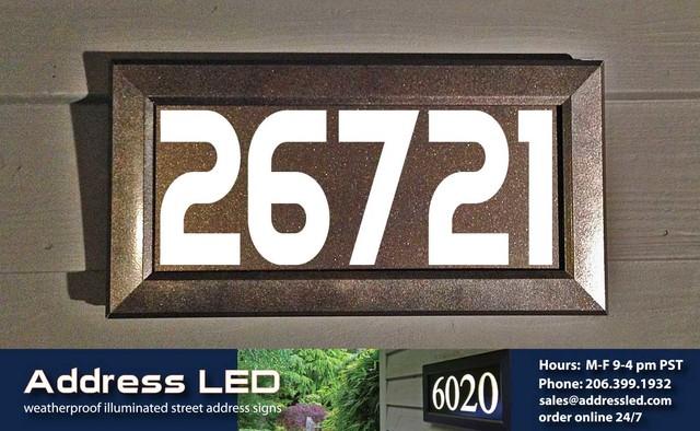Illuminated address