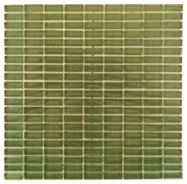 "Green Glass Tile Bathroom: Green Glass Mosaic Tile 1/2""x5/4"" Kitchen Bathroom Wall"
