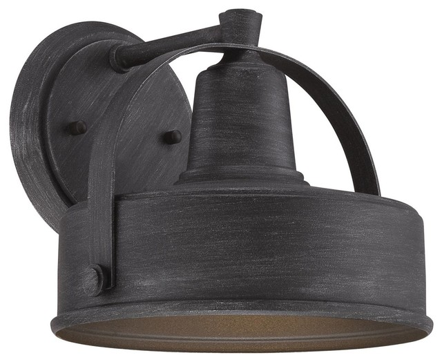 Small Industrial Wall Lights : Designers Fountain Portland DS Outdoor Lighting Fixture, Weathered Pewter, Small - Industrial ...