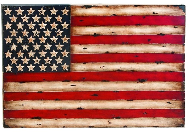 Metal wall decor with american flag replica modern Sophisticated outdoor christmas decorations
