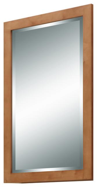 Lincoln street mirror light maple craftsman bathroom for Craftsman mirrors bathroom