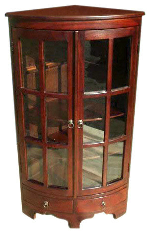Mahogany Corner Cabinet, Set of 2 - Traditional - Accent Chests And Cabinets - by D-Art ...