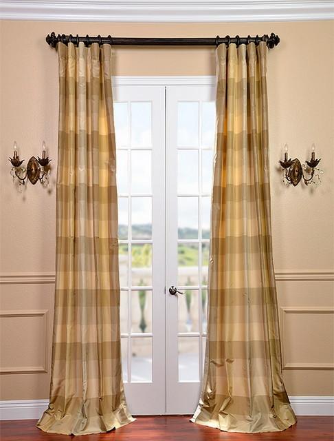 Newman Silk Taffeta Plaid Curtain Contemporary Curtains San Francisco By Half Price Drapes