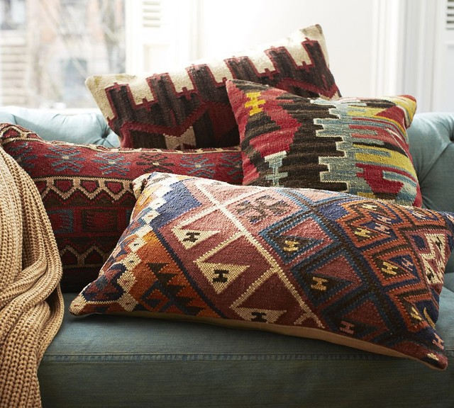 Norton Kilim Lumbar Pillow Cover - Traditional - Decorative Pillows - Other - by Pottery Barn