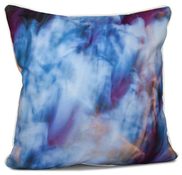 Inside Out Designs Pillow, Light Blue, Purple, Orange, 16
