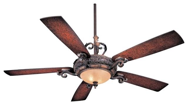 56 minka aire napoli walnut finish ceiling fan for Farmhouse ceiling fan