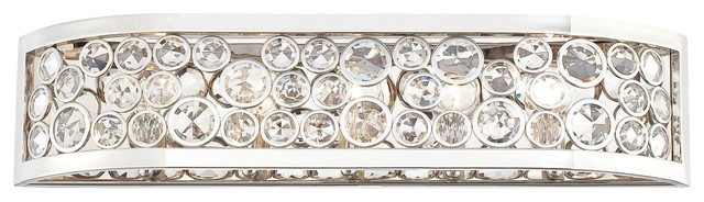 Vanity Light Bar Crystal : Magique Crystal Accent 5-Light Bathroom Vanity Bar N2755-613 - Contemporary - Bathroom Wall ...
