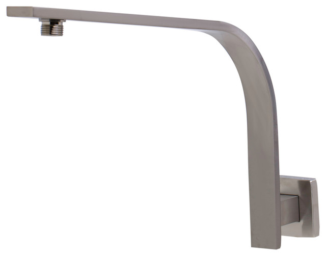ALFI Square Wall Mounted Brushed Nickel Shower Arm Rain Shower Heads Moder