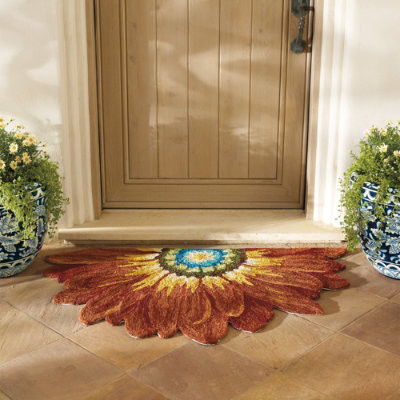 Contemporary Doormats Half Circle Hearth Rugs