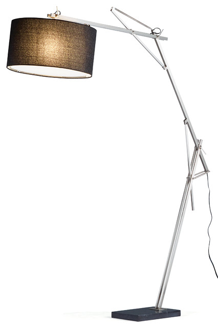adesso suffolk arc lamp contemporary floor lamps by