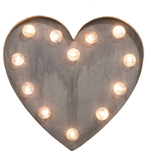 Novelty Lighting Fixtures :  HEART Marquee light - Novelty Lights - by House Junkie