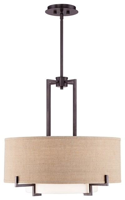 Possini euro concentric shades 25 wide bronze pendant for Possini lighting website