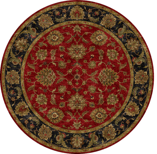Hand Tufted Traditional Oriental Red Wool Rug With Non: Traditional Oriental Pattern Red /Orange Wool Tufted Rug