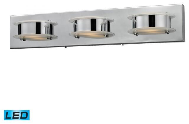 Contemporary Chrome Vanity Lights : Three Light Chrome Vanity - Contemporary - Bathroom Vanity Lighting - by We Got Lites