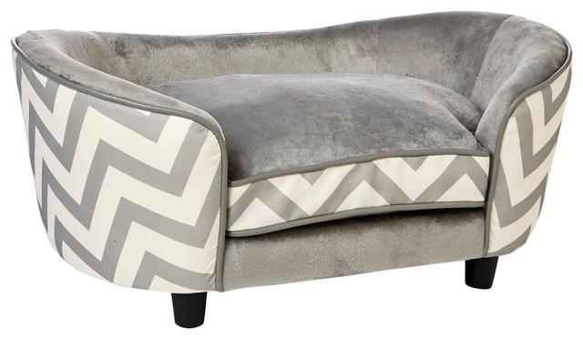 Grey Chevron Dog Bed