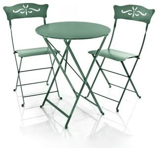 2 bagatelle st hle 1 bistro tisch bauhaus look outdoor gartenm bel von. Black Bedroom Furniture Sets. Home Design Ideas