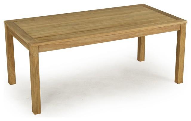 rustik table rectangulaire fixe en teck montagne table manger par alin a mobilier d co. Black Bedroom Furniture Sets. Home Design Ideas