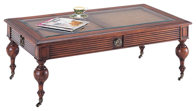 princeton cocktail table w casters contemporary coffee