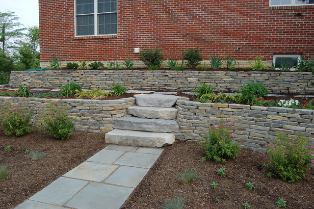 Grey Gorge Tan Dry Stack Wall Stone - indianapolis - by Hickory Ridge Stone