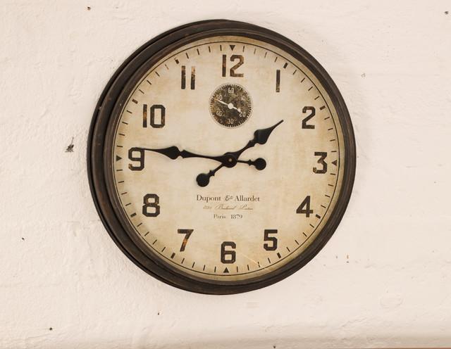 Dupont Allardet Metal Clock Brown Dublin By Harvey