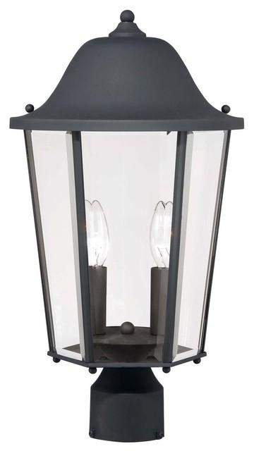 Truscott 2 light post lantern modern outdoor wall for Contemporary outdoor post light fixtures