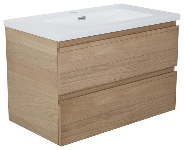 abeas meuble sous vasque simple 80cm 2 tiroirs scandinave console et meuble sous lavabo. Black Bedroom Furniture Sets. Home Design Ideas