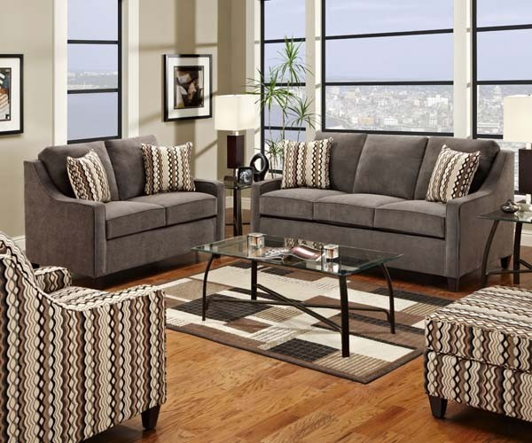 Simmons Upholstery Anthony 4 Piece Full Sleeper Sofa Set 8950FLCO Conte