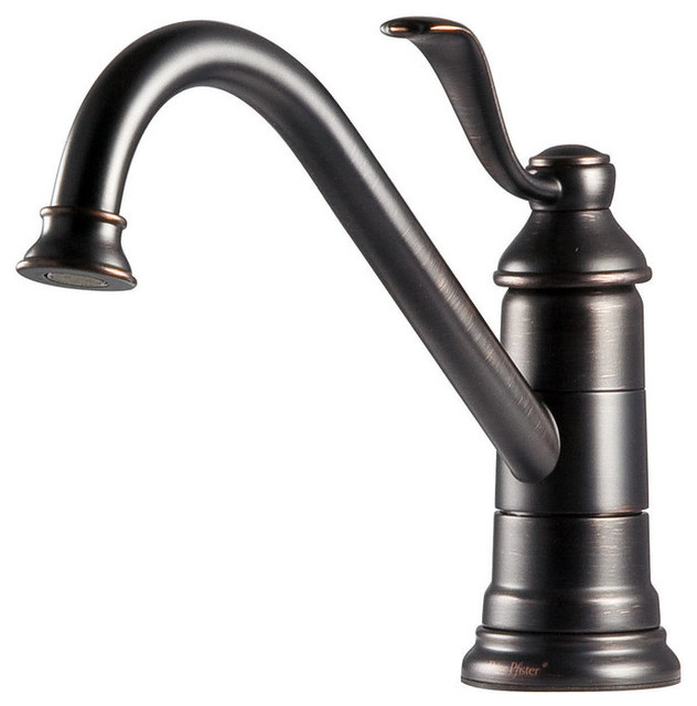 Pfister Gt34 1p0 Avalon Kitchen Faucet With Flex Line Supply Lines And Traditional Kitchen