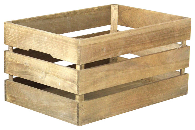 Antique style wooden crate rustic decorative boxes by decorative gifts - Decorative wooden crates ...