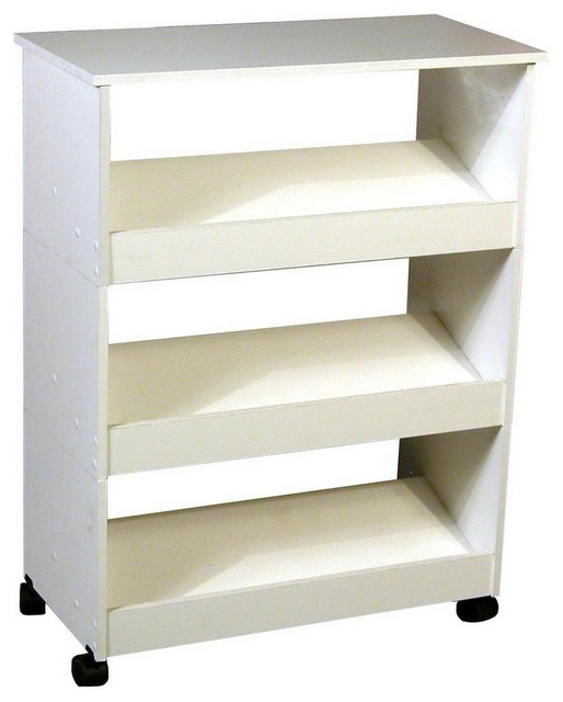 ... White Wood Shoe Storage - Contemporary - Shoe Storage - by Lowe's