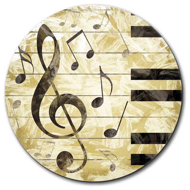 Vintage Piano with Treble Clef and Music Notes Mouse Pad - Contemporary - Desk Accessories - by ...