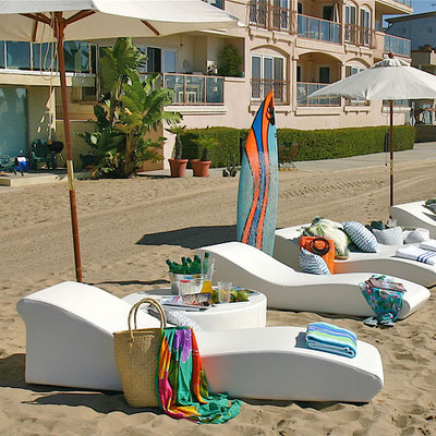La Fete Surf Low Profile Sun Lounge Beach Style Outdoor Chaise Lounges Los Angeles By