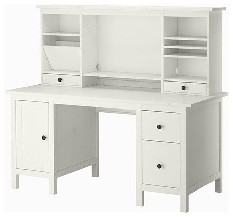 hemnes desk with add on unit contemporary desks and hutches by ikea. Black Bedroom Furniture Sets. Home Design Ideas