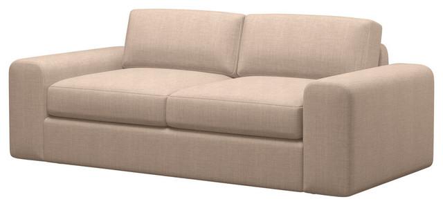Couch potato condo sofa burlap espresso 80 sofas for The couch potato furniture