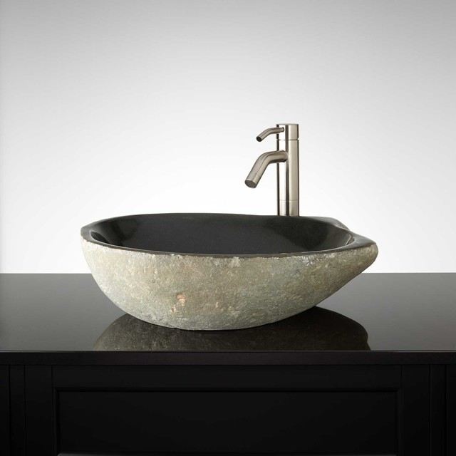 Rocks Bathroom Sink : Connely River Stone Vessel Sink modern-bathroom-sinks