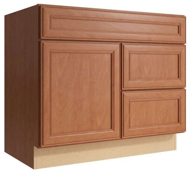 Cardell Cabinets Boden 36 In W X 31 In H Vanity Cabinet Only In Caramel Contemporary Medicine