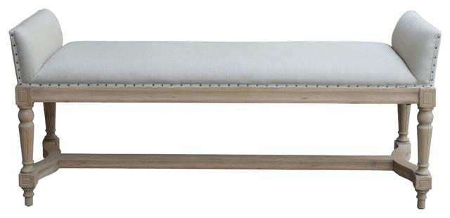 Linen and oak bench classico panche imbottite sydney for Panche imbottite