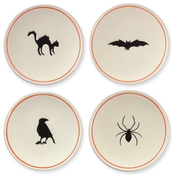 Modern Halloween Decor: Halloween Appetizer Plates