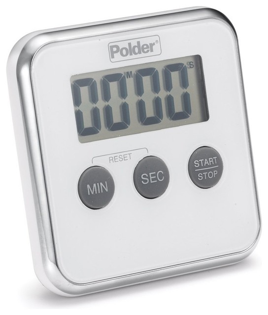 Digital Kitchen Timer White Contemporary Kitchen Timers