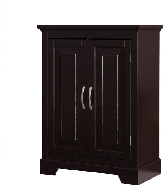 Helena Double Door Floor Cabinet - Traditional - Bathroom Cabinets And Shelves - by Elegant Home ...