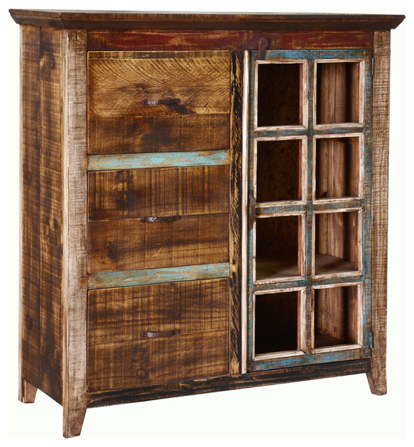 Bookcase File Cabinet - Rustic - Bookcases - by Q&C FURNITURE