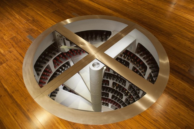white spiral cellar with retractable door. Black Bedroom Furniture Sets. Home Design Ideas
