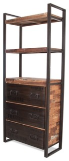 regal clash breit moderno librerie di fashion4home gmbh. Black Bedroom Furniture Sets. Home Design Ideas