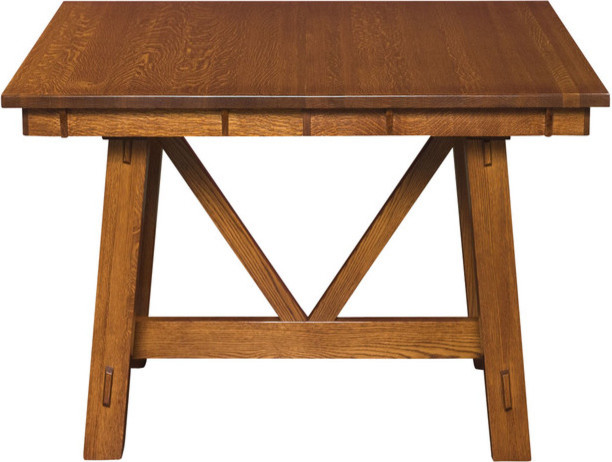 Trestle tables traditional dining tables detroit for Traditional dining table uk