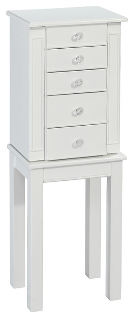 Powell White Cottage Jewelry Armoire - Contemporary - Jewelry Armoires - by Overstock.com