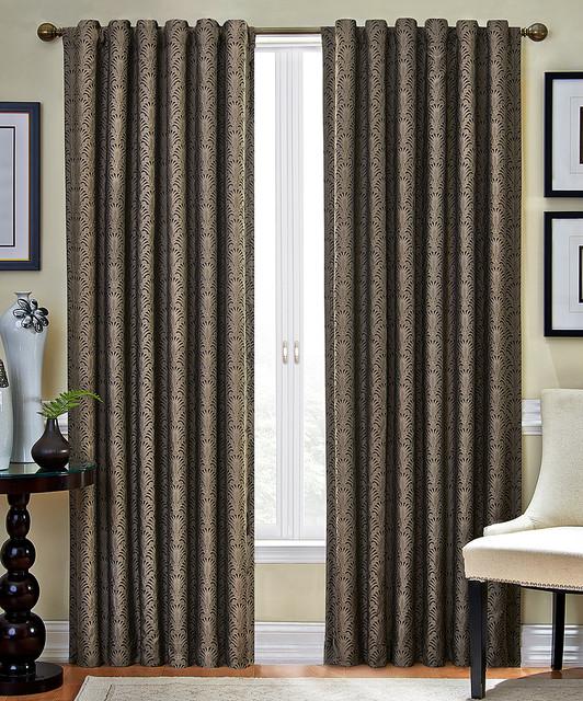 Dark Mushroom Fallon Room-Darkening Curtain Panel - Modern - Curtains